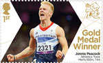 Paralympics Team GB Gold Medal Winners  1st Stamp (2012) Athletics: Track Men's 100m, T44 - Paralympics Team GB Gold Medal Winners