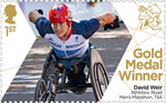 Paralympics Team GB Gold Medal Winners  1st Stamp (2012) Athletics: Road Men's Marathon, T54 - Paralympics Team GB Gold Medal Winners