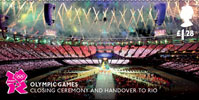 Memories of London 2012 £1.28 Stamp (2012) Olympic Games - Closing Ceremony and Handover to Rio