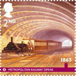 London Underground 2nd Stamp (2013) 1863 - Metropolitan Railway Opens