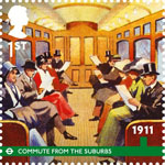 London Underground 1st Stamp (2013) 1911 - Commute to the Suburbs