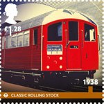 London Underground �1.28 Stamp (2013) 1938 - Classic Rolling Stock