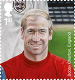 Football Heroes 1st Stamp (2013) Bobby Charlton