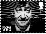 Classic TV - 50 Years of Doctor Who 1st Stamp (2013) Patrick Troughton