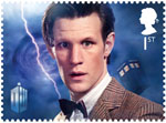 Classic TV - 50 Years of Doctor Who 1st Stamp (2013) Matt Smith