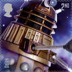 Classic TV - 50 Years of Doctor Who 2nd Stamp (2013) Dalek