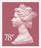 New Definitives 2013 78p Stamp (2013) 78p Orchid Mauve