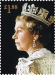 Royal Portraits �1.88 Stamp (2013) Portrait by Richard Stone 1992