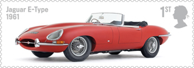 British Auto Legends 1st Stamp (2013) Jaguar E-Type, 1961