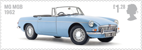 British Auto Legends �1.28 Stamp (2013) MG MGB, 1962