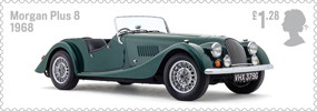 British Auto Legends �1.28 Stamp (2013) Morgan Plus 8, 1968