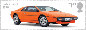 British Auto Legends �1.28 Stamp (2013) Lotus Esprit, 1976