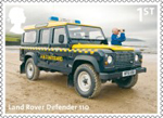 British Auto Legends 1st Stamp (2013) Land Rover Defender 110