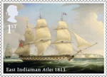Merchant Navy 1st Stamp (2013) East Indiaman Atlas 1813