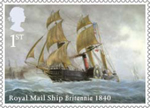 Merchant Navy 1st Stamp (2013) Royal Mail Ship Britannia 1840