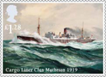 Merchant Navy �1.28 Stamp (2013) Cargo Liner Clan Matheson 1919