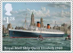 Merchant Navy �1.28 Stamp (2013) Royal Mail Ship Queen Elizabeth 1940