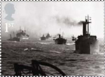 Merchant Navy 1st Stamp (2013) Merchant convoy in North Sea