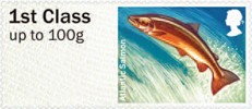 Post & Go: River Life - Freshwater Life 3 1st Stamp (2013) Atlantic Salmon