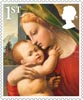 Christmas 1st Stamp (2013) Virgin and Child with young St John the Baptist