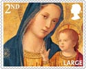 Christmas 2nd Large Stamp (2013) Madonna and Child