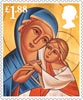 Christmas �1.88 Stamp (2013) Theotokos, Mother of God