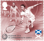 Glasgow 2014 Commonwealth Games £1.28 Stamp (2014) Squash