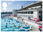 Seaside Architecture 1st Stamp (2014) Tinside Lido, Plymouth