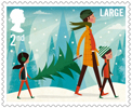 Christmas 2nd Large Stamp (2014) Collecting the Christmas Tree