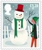 Christmas �1.28 Stamp (2014) Building a Snowman