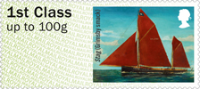 Post & Go : Working Sail 1st Stamp (2015) Stag