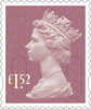 Definitives 2015 £1.52 Stamp (2015) Orchid Mauve