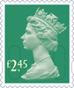 Definitives 2015 £2.45 Stamp (2015) Spruce Green