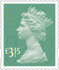 Definitives 2015 £3.15 Stamp (2015) Aqua Green