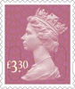 Definitives 2015 £3.30 Stamp (2015) Rose Pink