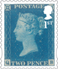 The 175th Anniversary of the Penny Black 1st Stamp (2015) Twopenny Blue