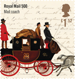 Royal Mail 500 £1.52 Stamp (2016) Mail coach