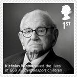 British Humanitarians 1st Stamp (2016) Nicholas Winton (1909-2015)