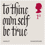 Shakespeare 1st Stamp (2016) Hamlet (1600) Act 1, Scene 3