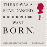 Shakespeare 1st Stamp (2016) Much Ado About Nothing (1598) Act 2, Scene 1