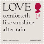 Shakespeare 1st Stamp (2016) Venus and Adonis (1593) Line 799