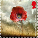 The Great War - 1916 1st Stamp (2016) Battlefield Poppy, Giles Revell