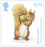 Beatrix Potter £1.33 Stamp (2016) The Tale of Squirrel Nutkin