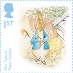 Beatrix Potter 1st Stamp (2016) The Tale of Peter Rabbit - Two