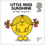Mr Men and Little Misses 1st Stamp (2016) Little Miss Sunshine