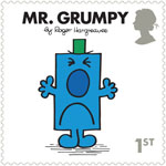 Mr Men and Little Misses 1st Stamp (2016) Mr. Grumpy