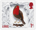 Christmas 2016 1st Large Stamp (2016) Robin