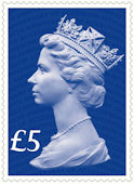 65th Anniversary of the Accession of HM The Queen �Stamp (2017) Sapphire Blue