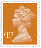 New Machin Definitives �17 Stamp (2017) Sunset Red