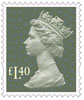 New Machin Definitives �40 Stamp (2017) Dark Green Pine